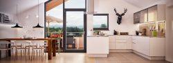 Wohnküche in Neubau Dachgeschoss Wohnung